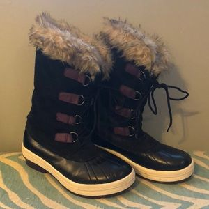 Host pick leather and fur waterproof snow boots 4